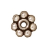 Spacer Heishi Beaded 5mm Antique Silver